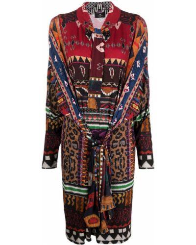 Платье макси с длинными рукавами - коричневое Etro