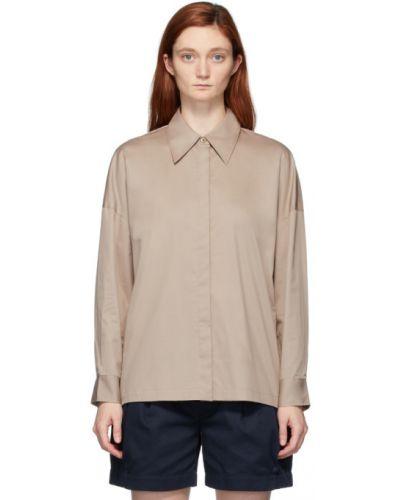 Bawełna z rękawami koszula z mankietami Tibi