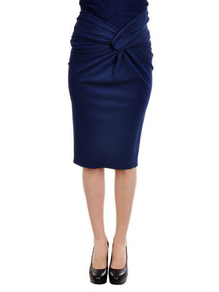 Юбка из вискозы - синяя Burberry Prorsum