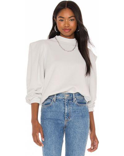 Pofałdowany runo bawełna biały bluza Agolde