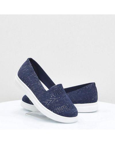 Текстильные слипоны - синие Inblu