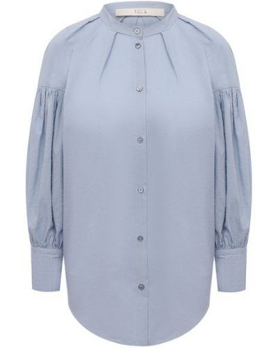 Хлопковая рубашка - синяя Tela