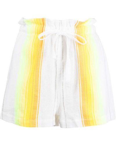 Прямые хлопковые белые шорты Lemlem