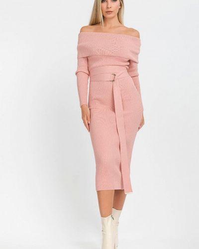 Прямое розовое платье А-силуэта Clever Woman Studio