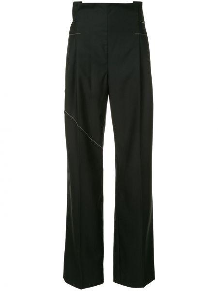 Черные свободные брюки с завязками Litkovskaya