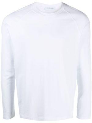 Biały t-shirt z długimi rękawami bawełniany Cruciani