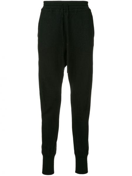 Свободные черные брюки с манжетами Forme D'expression
