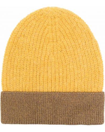 Żółta czapka wełniana Pinko