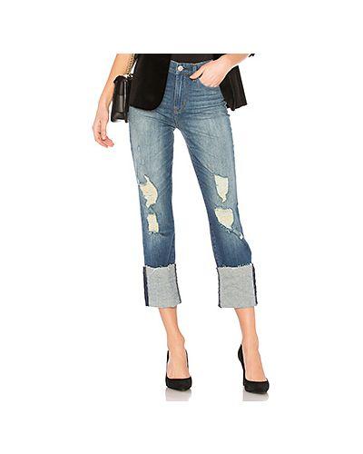Джинсы с высокой посадкой скинни рваные с эффектом потертости Hudson Jeans