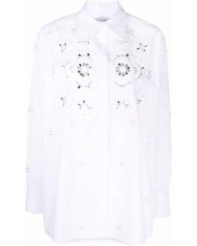 Белая длинная рубашка Valentino