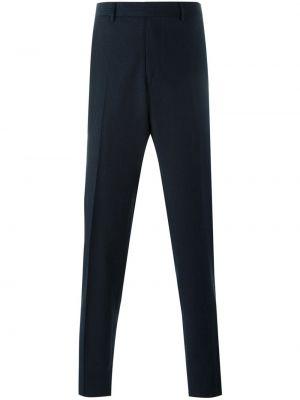 Niebieskie spodnie w paski wełniane Fashion Clinic Timeless