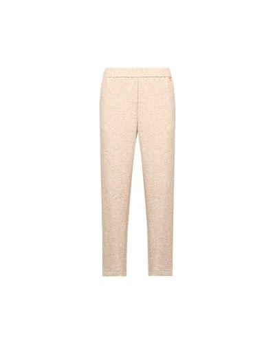Зауженные брюки - бежевые Elisa Fanti