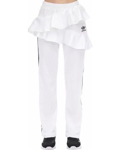 Спортивные брюки с лампасами бархатные Adidas Originals