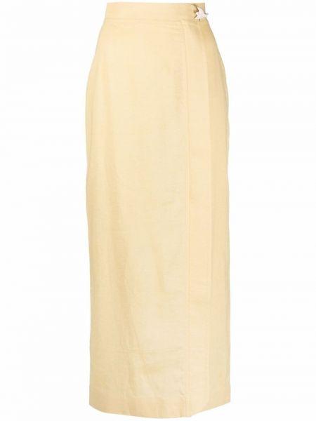 Юбка миди с завышенной талией - желтая Bevza
