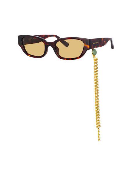 Brązowe okulary Magda Butrym