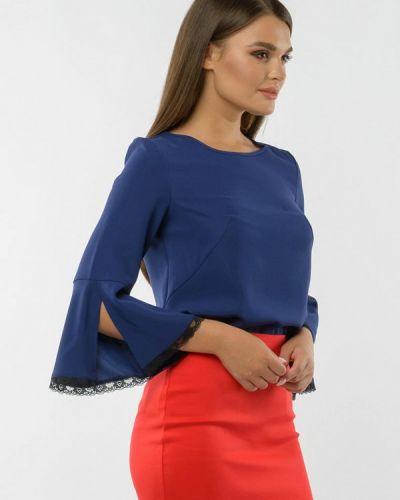 Синяя блузка с длинным рукавом с длинными рукавами Remix