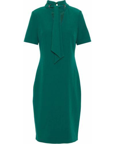 Зеленое платье на крючках из крепа Badgley Mischka