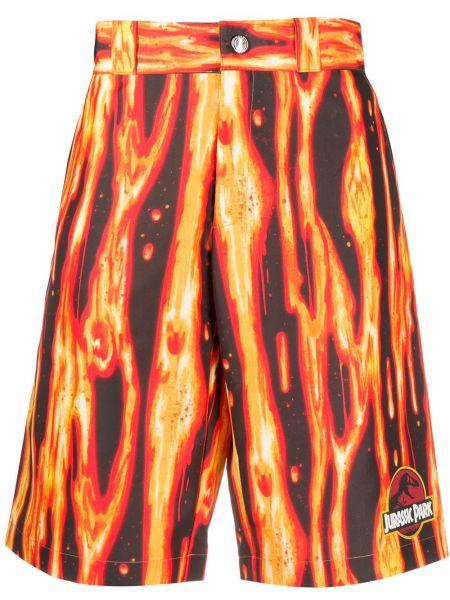 Оранжевые шорты с карманами Gcds