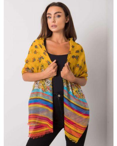 Szalik z wiskozy - żółty Fashionhunters