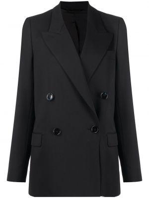 Черный пиджак двубортный с карманами Acne Studios