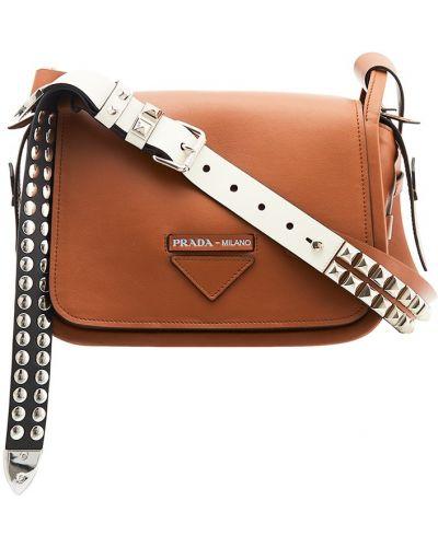Кожаный сумка маленькая среднего размера Prada
