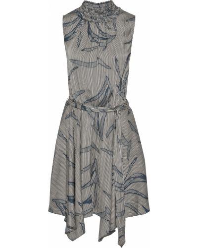 Асимметричное черное платье мини с поясом Halston Heritage