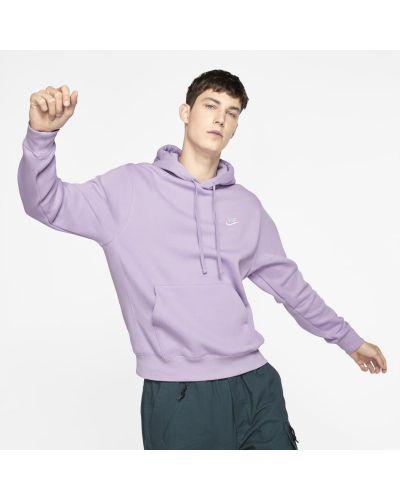 Fioletowa polar z kapturem polarowa Nike