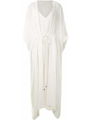 Белое прямое платье миди из вискозы Osklen