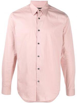 Хлопковая рубашка - розовая Theory