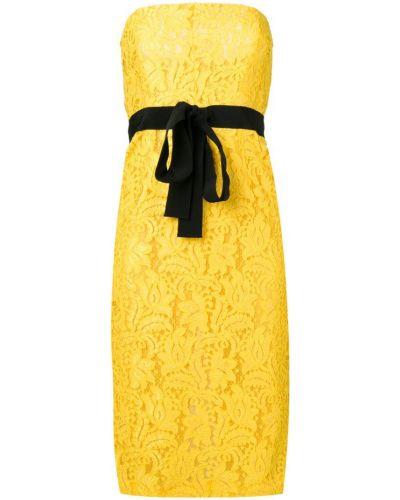 Платье с поясом с вышивкой на молнии Brognano