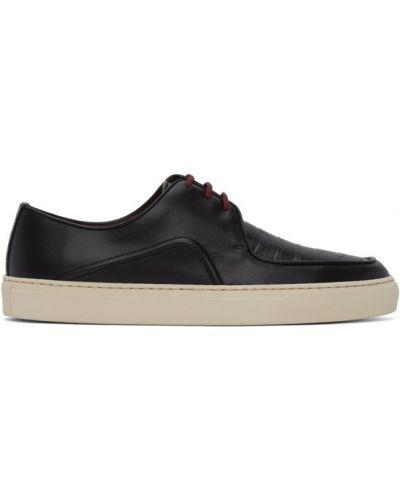 Czarne sneakersy skorzane sznurowane Human Recreational Services