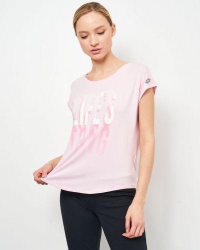 Футбольная футболка - розовая Lotto