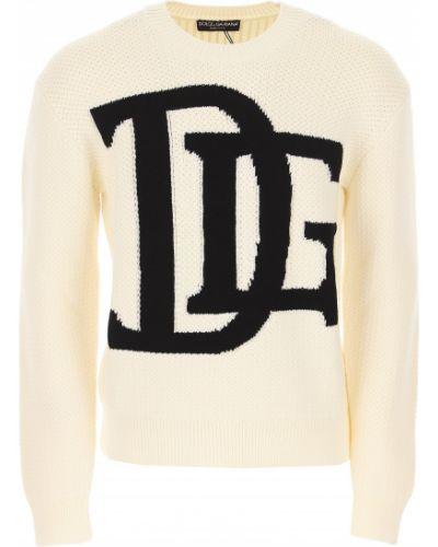 Czarny sweter bawełniany Dolce And Gabbana