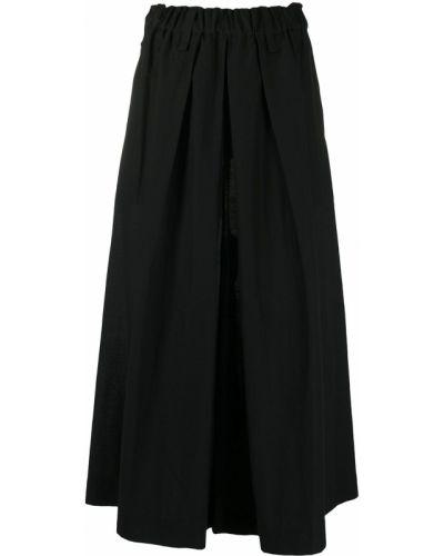 Черные свободные брюки с поясом свободного кроя с высокой посадкой Issey Miyake