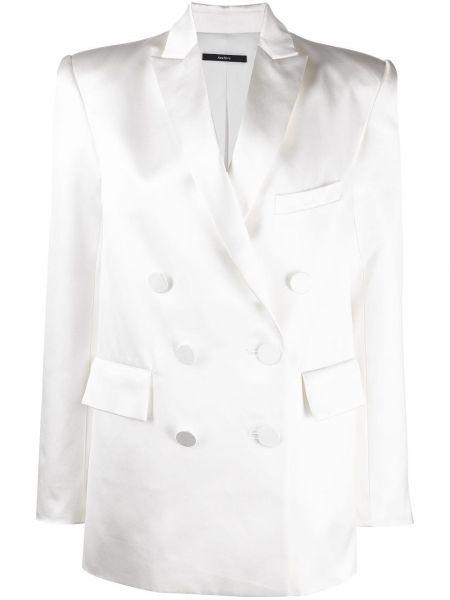 Белый классический пиджак двубортный на пуговицах Alex Perry