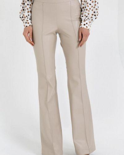 Бежевые кожаные брюки Gold Chic Chili