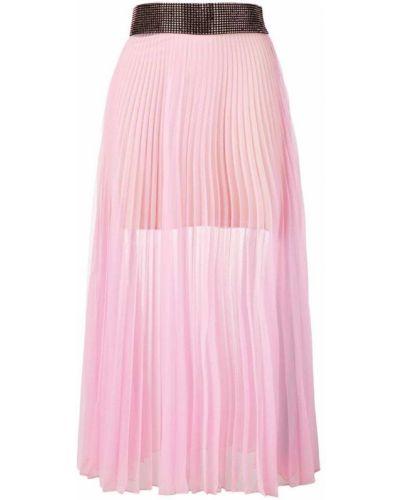 Плиссированная юбка с завышенной талией прозрачная Christopher Kane
