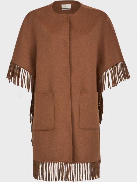 Шерстяное пальто - коричневое Vicolo