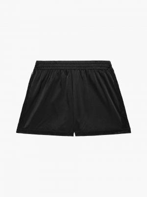 Кружевные шелковые черные шорты Stella Mccartney