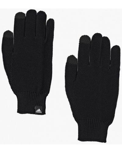 Черные перчатки текстильные Adidas