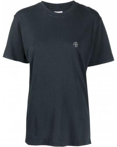 Черная футболка с короткими рукавами Anine Bing