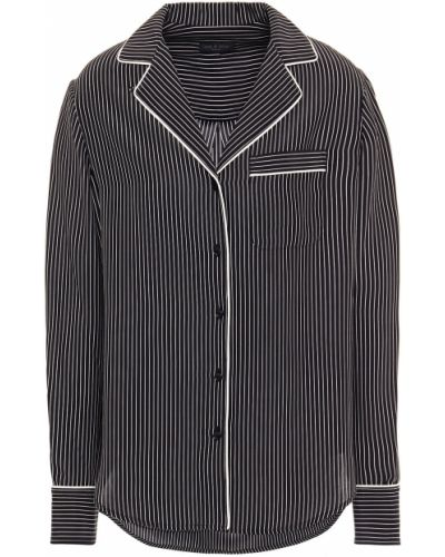 Czarna koszula z jedwabiu zapinane na guziki Rag & Bone