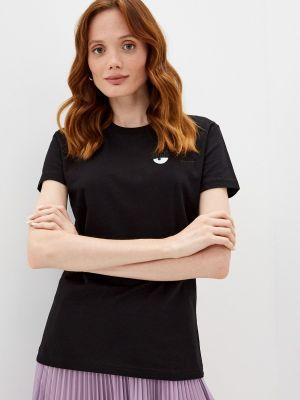 Черная зимняя футболка Chiara Ferragni Collection