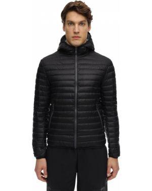 Czarna kurtka z kapturem z nylonu Colmar Originals
