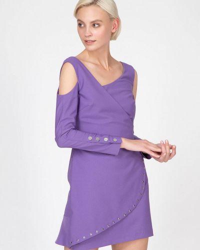 Однобортное фиолетовое платье Ornato