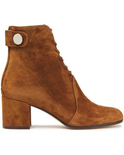 Ботильоны на каблуке - коричневые Gianvito Rossi