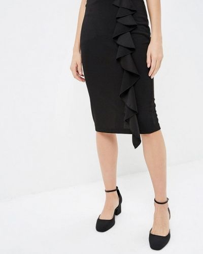 Черная юбка карандаш с рукавом 3/4 Perfect J
