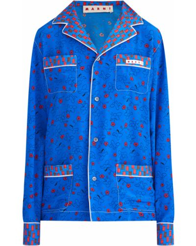 Блузка с лацканами на пуговицах Marni
