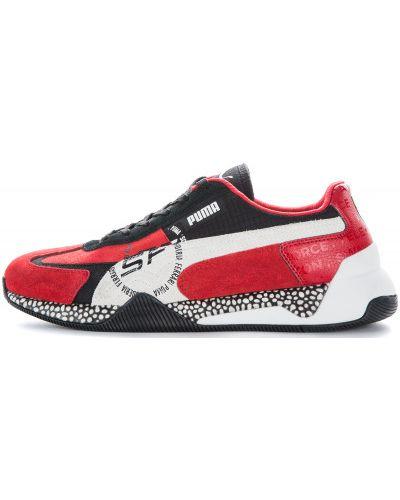 Красные кроссовки на шнуровке Puma