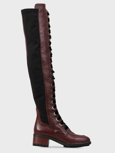 Кожаные ботфорты - черные L'estrosa